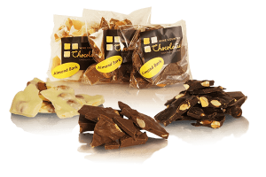 Almond Bark in White Chocolate, Dark Chocolate and Milk Chocolate