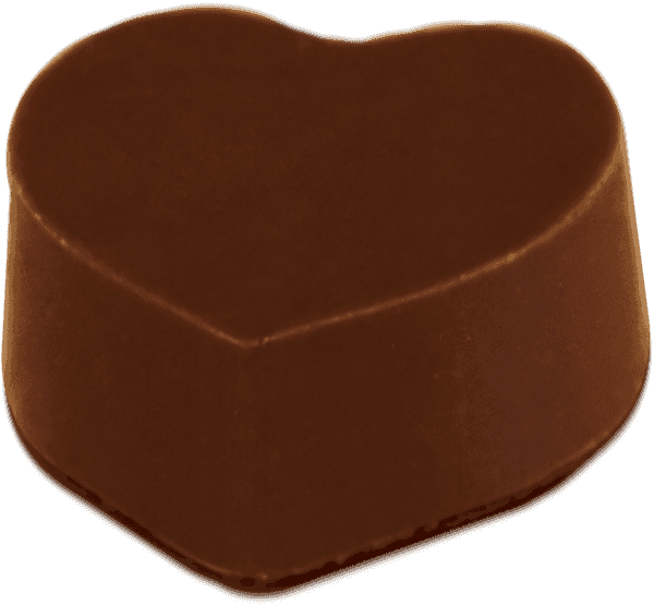 Single Peanut Butter Heart (Dark) Truffle image