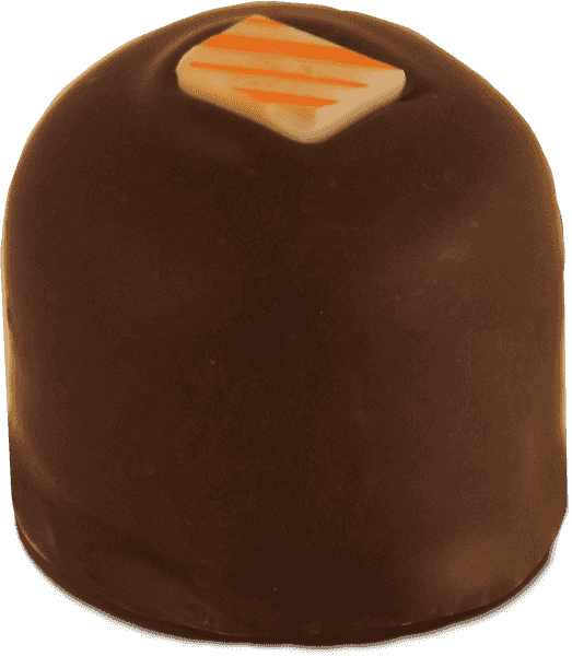 Single Fresh Orange Truffle image